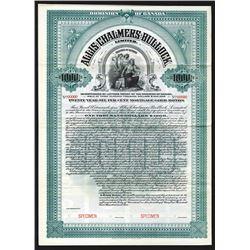 Allis-Chalmers-Bullock LTD., 1905 Specimen Bond