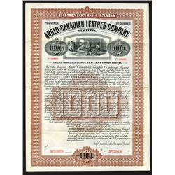 Anglo-Canadian Leather Co. Ltd., 1905 Specimen Bond
