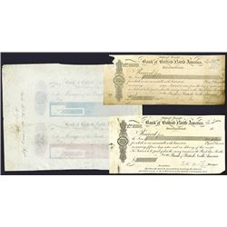 Bank of British North America Proof Checks &Receipts