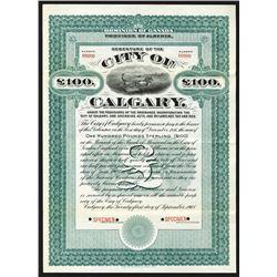 City of Calgary, 1908 Specimen Bond