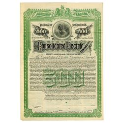 Consolidated Electric Co. Ltd., 1892 Specimen Bond