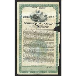 "Dominion of Canada ""Canada's Victory Loan 1918""  Fifth War Loan."
