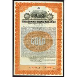 Hudson Bay Mining and Smelting Co. Ltd., 1930 Specimen Bond