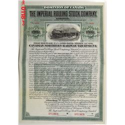 Imperial Rolling Stock Co., 1911 Specimen Bond
