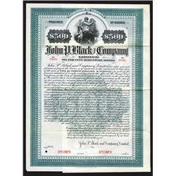 John P. Black and Co. Ltd., 1905 Specimen Bond