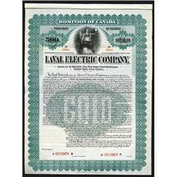 Laval Electric Co., 1908 Specimen Bond