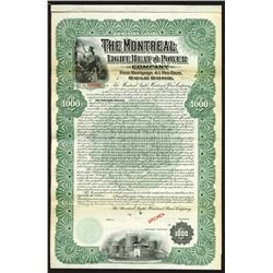 Montreal Light, Heat and Power Co., 1902 Specimen Bond