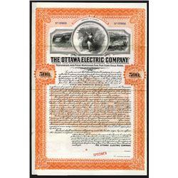 Ottawa Electric Co., 1908 Specimen Bond