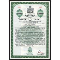 Province of Quebec, 1959 Specimen Bond