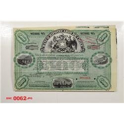Banco Hipotecario de Chile, ca.1900-1910 Specimen Bond