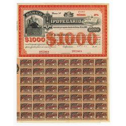 Banco Hipotecario, 1909 Issued Bond