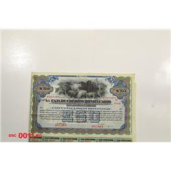 Caja de Credito Hipotecario, ca.1930-1940 Specimen Bond