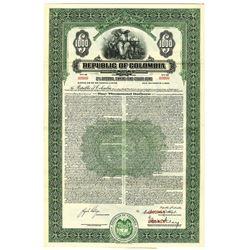 Republic of Columbia, 1940 Specimen Bond