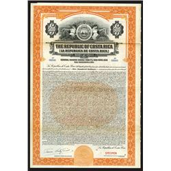 Republic of Costa Rica, 1926 Specimen Bond