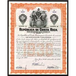 Republica de Costa Rica, 1936 Specimen Bond