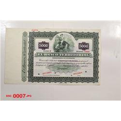 Banco Territorial, ca.1940-1950 Specimen Bond