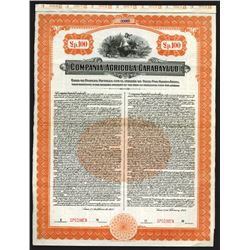 Compania Agricola Carabayllo, 1918 Specimen Bond