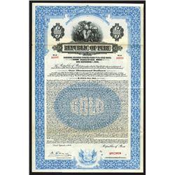 Republic of Peru, 1926 Specimen Bond