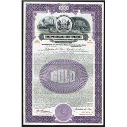 Republic of Peru, 1927 Specimen Bond