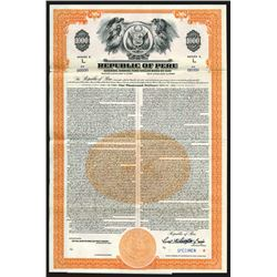 Republic of Peru, 1947 Specimen Bond