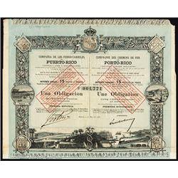 Compania De Los Ferro-Carriles De Puerto-Rico Stock.