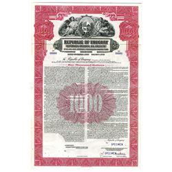 Republic of Uruguay, 1937 Specimen Bond