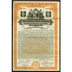 State Mortgage Bank of Jugoslavia, 1927 Specimen Bond