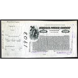 Hercules Powder Co., 1915 Proof Stock Certificate.