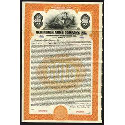 Remington Arms Co. Inc., 1922 Specimen Bond