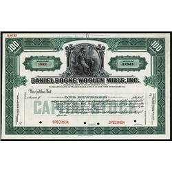Daniel Boone Woolen Mills, Inc. Specimen Stock.