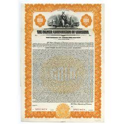 Palmer Corporation of Louisiana, 1928 Specimen Bond.