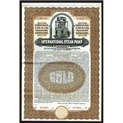 International Steam Pump Co., 1909 Specimen Bond