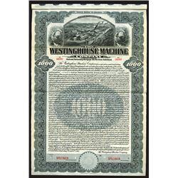Westinghouse Machine Co., 1910 Specimen Bond