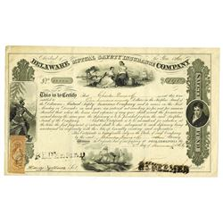 Delaware Mutual Safety Insurance Co., 1866 Issued Bond