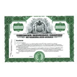 Firemen's Insurance Co., ca.1950-1960 Proof Stock Certificate