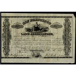 San Francisco Land Assoc., 1856 Issued Stock Certificate