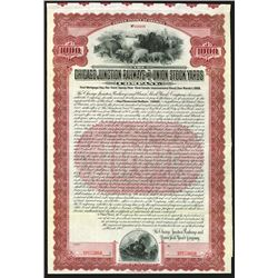 Chicago Junction Railways and Union Stock Yards 1908 Specimen Bond