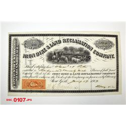 Iron Dike & Land Reclamation Co., 1869 Issued Stock