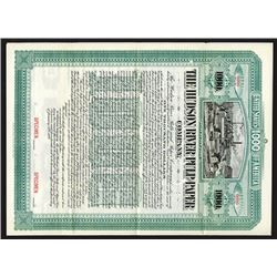 Hudson River Pulp & Paper Co., 1898 Specimen Bond