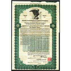 Alaska Consolidated Copper Co., 1917 Issued Bond.