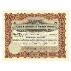 Alaska Exploration and Mining Co., Issued Stock.