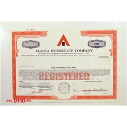 Alaska Interstate Co., ca.1968-1993 Specimen Bond
