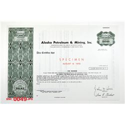 Alaska Petroleum & Mining Co., 1972 Specimen Stock