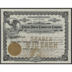 Chicago-Yukon Commercial Co., 1898 Alaska related Stock Certificate.
