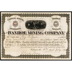 Ivanhoe Mining Co. Stock Certificate.