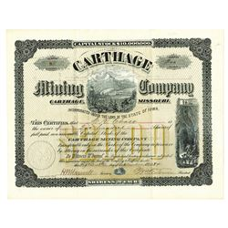 Carthage Mining Company, Issued Stock.
