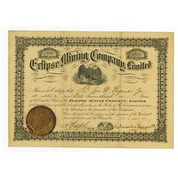 Eclipse Mining Co, Ltd., 1889 Issued Stock