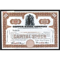 Copper Range Co., Specimen Stock Certificate.