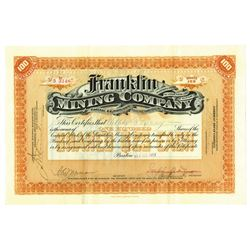 Franklin Mining Co., 1912 Issued Stock Certificate