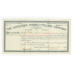 Comstock Mining and Milling Co., 1889 Issued Stock